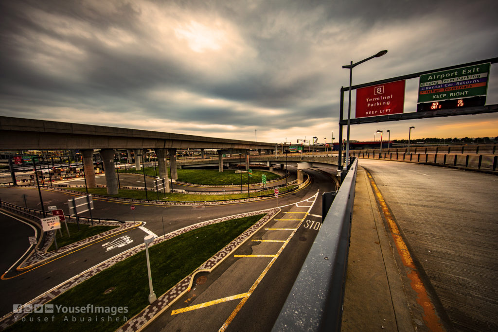 THE BRIDGE IN FRONT OF JOHN F. KENNEDY AIRPORT